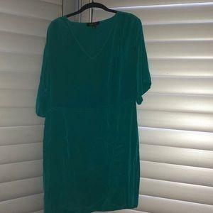 Turquoise silk Charlie jade dress size large